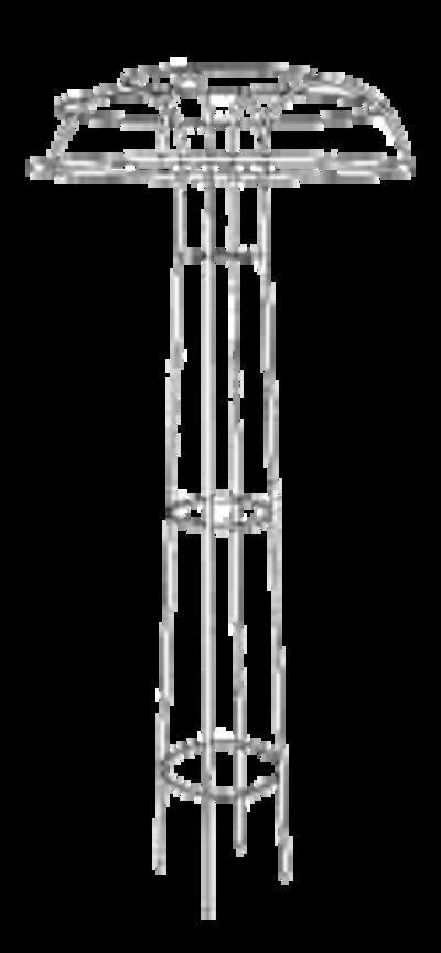 Rosenschirm, klassisch aus Metallrohr