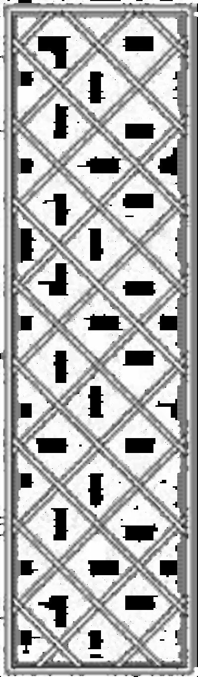 Wandgitter mit Rauten